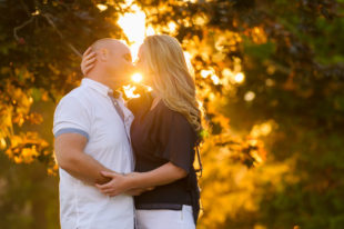 Sunset engagement session in Sackville