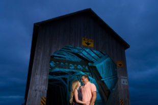 Covered bridge engagement session