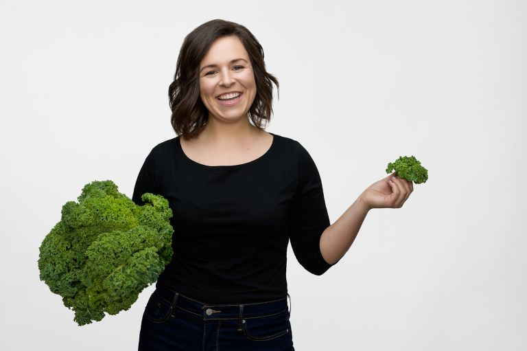 Personal Branding Photography - Doctor with Kale